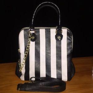 Betsey Johnson Black & White Handbag or Crossbody